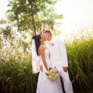 Bride and Groom at Pettibone Resort in La Crosse, WI